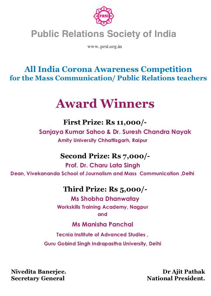 Corona Awareness Paper Presentation Competition